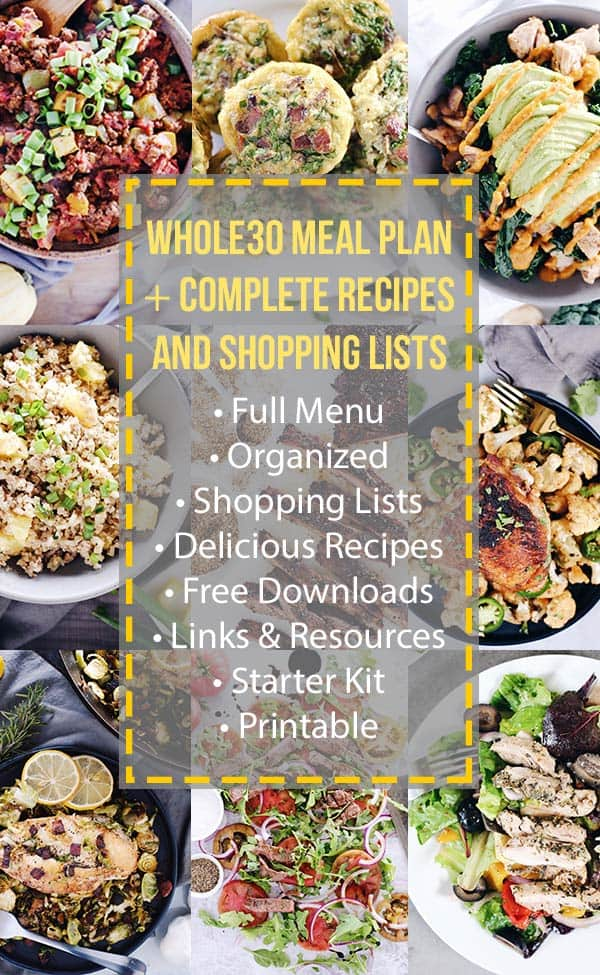 Whole30 Meal Plan Collage Images
