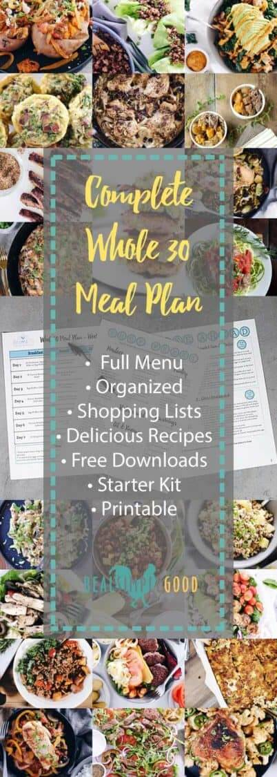 Whole30 Meal Plan Long Pin collage