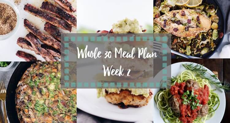 Whole30 meal plan week 2 collage