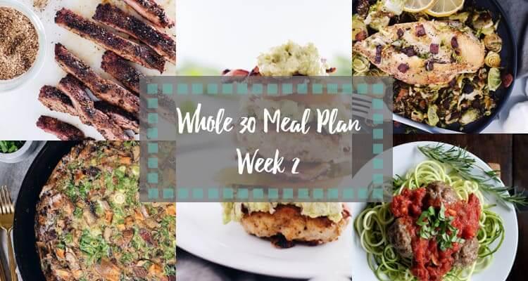 Whole30 meal plan week 2 collage