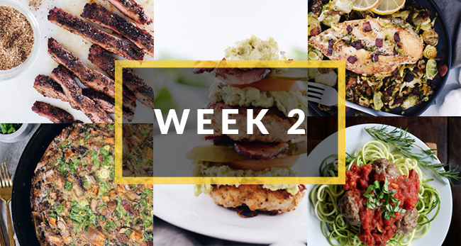 whole30 meal plan week two collage