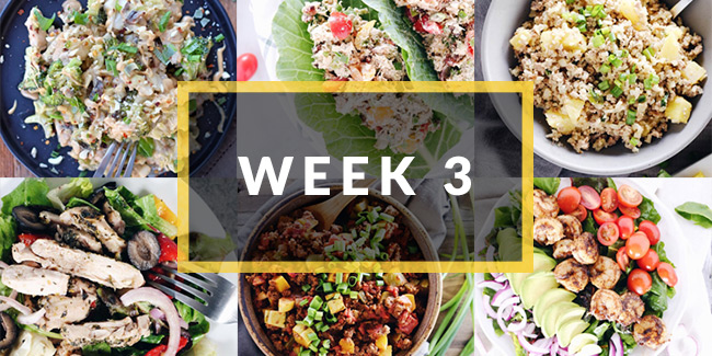 whole30 meal plan week three collage