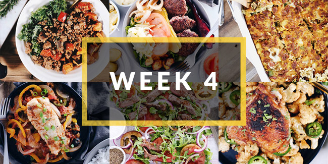 whole30 meal plan week four collage