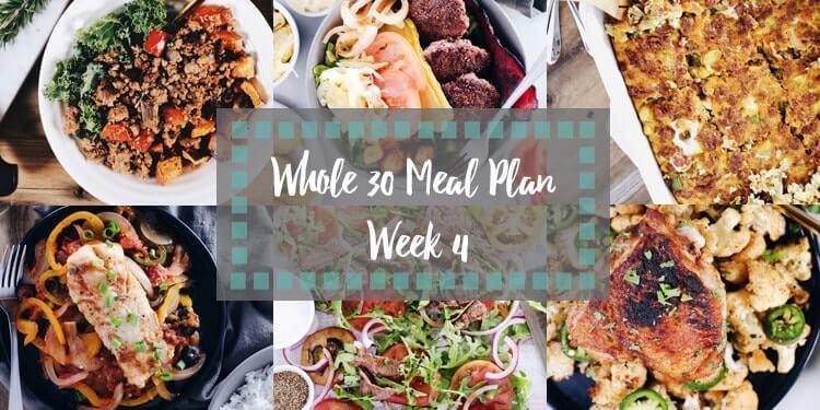 Whole30 meal plan week 4 collage